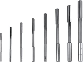 Yosoo 3/4/5/6/7/8/9/10mm High Speed Steel HSS 4 Flute Straight End Mill Cutter Tools, Set of 8
