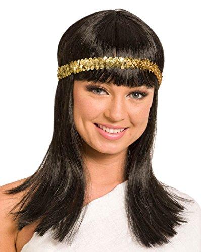 Folat 26830 Cleopatra pruik, zwart, één maat