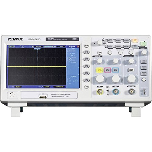 VOLTCRAFT DSO-1102D Digital-Oszilloskop 100 MHz 2-Kanal 500 MSa/s 512 kpts 8 Bit Digital-Speicher (DSO)