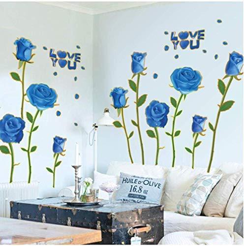 Descalcificación De Pared Flor Amor Sala De Estar Dormitorio Baño Pegatinas De Pared Autoadhesivas Extraíbles Calcomanías Impermeables Decoración Arte Mural