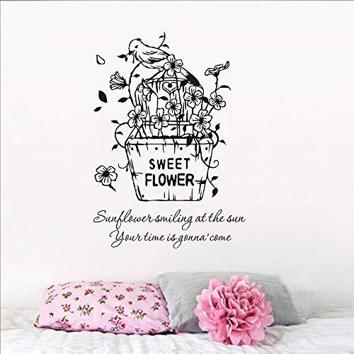 stickers muraux football zlatan Fleurs douces fleurs panier inyl plante pot oiseau maison chambre décor fleurs