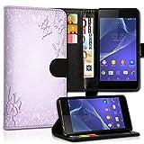wicostar Book Style Sony Xperia Style/Xperia T3 Premium PU-Leder Tasche Flip Brieftasche Handy Hülle Kartenfächer mit Standfunktion für Sony Xperia Style/Xperia T3 - Design Flip MVC121