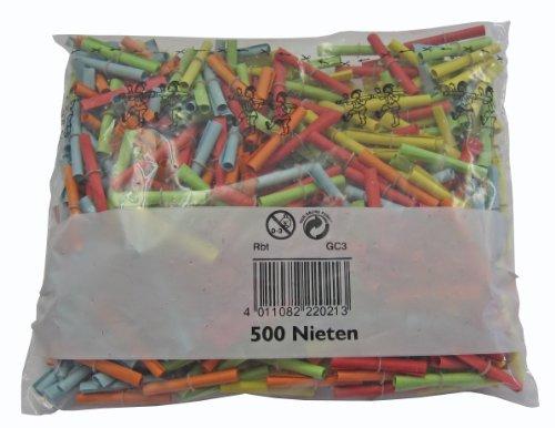 Wolf & Appenzeller 220500 - Röllchenlose Nieten 500 Stück bunt