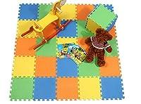 (ビグッド)Bigood 知育パズル カラーマット ジョイントマット フロアマット プレイマット幼児 キッズ 出産祝い プレゼント 10枚入り Eva材質