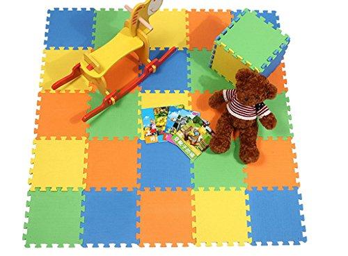 Bigood 10pcs Tapis de Jeux Bébé Enfant Mousse Cadeau 30x30x1cm Multicolore