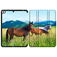 MAITTAO iPad Mini 5 2019 Case with Apple Pencil Holder,Folio Stand Smart Cover Soft TPU Back Shell For iPad Mini 4 4th/5th Gen 7.9'' 2019 2015 With Tablet Sleeve Bag 2 in 1 Bundle, Akhal-Teke Horse 4