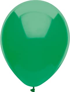 PartyMate Made in the USA Royal Rich Color 12-Inch Latex Balloons, 15-Count, Forest Green