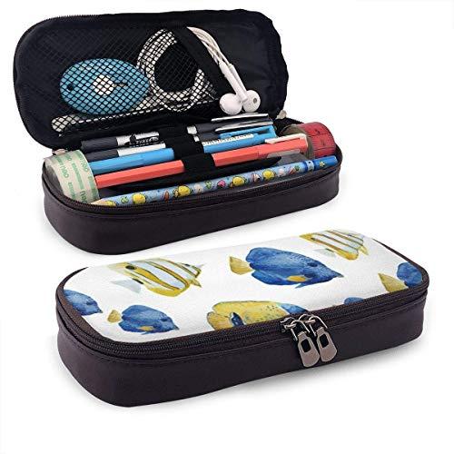 Pencil Pen Bag,Bolso De La Caja De Lápiz De Los Peces Marinos,...