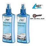 AGT Scheibenversiegelung: 2er-Set Regenabweiser-Spray für Kfz-Scheiben, je 250 ml (Versiegelung)