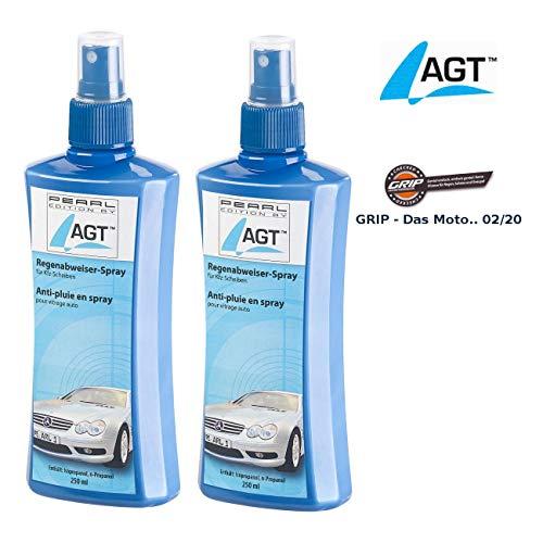 AGT Scheibenversiegelung: 2er-Set Regenabweiser-Spray für Kfz-Scheiben, je 250 ml (Glasversiegelung)