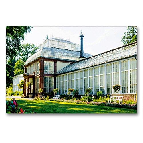 Premium Textil-Leinwand 90 x 60 cm Quer-Format Großes Gewächshaus   Wandbild, HD-Bild auf Keilrahmen, Fertigbild auf hochwertigem Vlies, Leinwanddruck von Markus W. Lambrecht