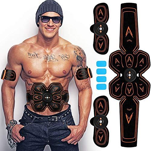 EGEYI Electroestimulador Muscular Abdominales Cinturón,Estimulador Muscular Abdominales,Masajeador Eléctrico Cinturón con USB,EMS Ejercitador del Abdomen/Brazo/Piernas/Cintura para Hombres y Mujere