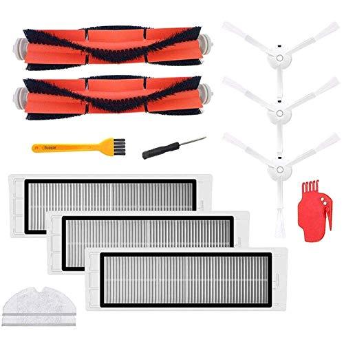 Accesorios para aspiradora Mijia/Robot Pack de 3 filtros Hepa, 2 cepillos principales, 1 herramienta de limpieza, 3 filtros laterales de repuesto