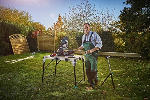 Wolfcraft 6909000 Master Work 1600 Etabli Pliant, Table de Travail Mobile pour Atelier et Chantier, Aluminium