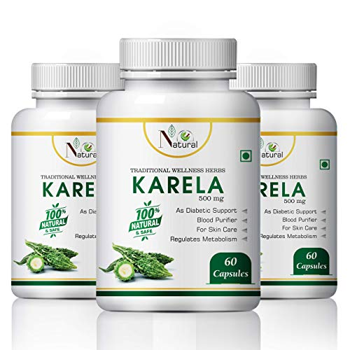 Natural Health Care Karela Herbal Capsules 100% Ayurvedic – 180 Tablets