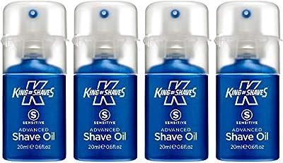 King of Shaves Sensitive Advanced Shaving Oil, Handy Pump 20 ml - Quad Pack