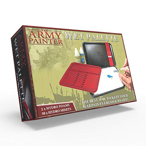 The Army Painter ? | The Wet Palette | Premium Brush Storing Palette with 50 Palette Sheets and 2 sponges for Wargames Miniature Model Painting
