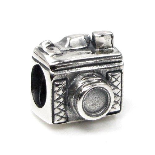 Cuenta de la cámara del fotógrafo de la plata esterlina 925 para las pulseras europeas del encanto