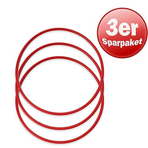 Hula hoop Reifen KAWANYO Fitness-Hoop, 3 Stück 60 cm Durchmesser rot