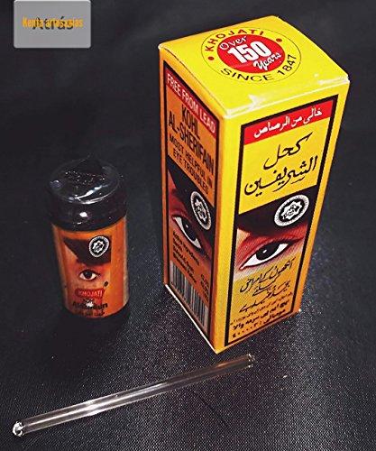 Khol-Kajal-Pulver, arabisches Produkt, Schwarz, Packung mit 3Stück