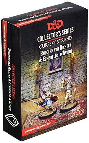 """Gale Force Nine Dungeons & Dragons - """"Curse of Strahd"""" Ezmerelda D'Avenir & Rudolph Van Richten (2 figs)"""