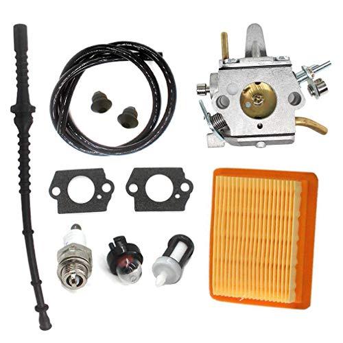 AISEN Carburateur avec filtre à air pour tronçonneuse Stihl FS400 FS450 FS480 SP400 SP450 String Coupe-bordure Remplace ZAMA C1Q-S34H, 4128 120 0651, 4134 141 0300