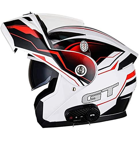 Bluetooth Integrado Modular Casco de la Motocicleta ECE 22.05 certificación DOT Seguridad estándar-Cara Completa Racing Casco de la Motocicleta Modulares General F,L