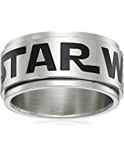 Star Wars Jewelry Logo Stainless Steel Spinner Men's Ring