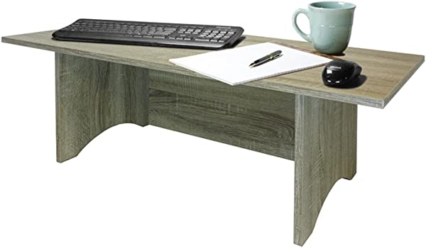 Miracle Desk Stand Up Desk Convert A Regular Desk To Standing Faux Marble