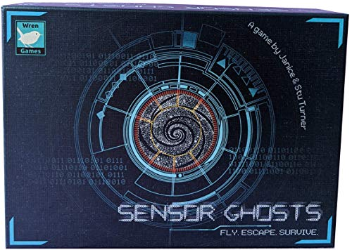 Wren Games Sensor Ghosts, un juego de cartas de rompecabezas de laberinto móvil (cooperativo o solo)