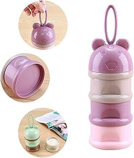 3 Layers Milk Cans Storage Box Formula Milk Powder Dispenser Pink