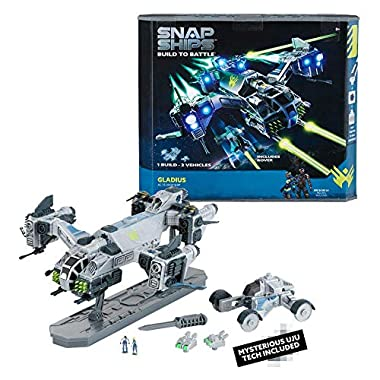 Snap Ships Gladius AC-75 Drop Ship — Construction Toy for Custom Building and Battle Play — Ages 8+