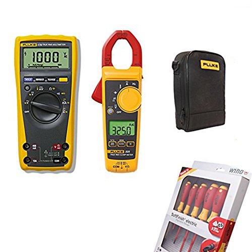 FLUKE 179True RMS multímetro digital medidor de abrazadera de | 325| libre Wiha Electric 25477–Juego de destornilladores