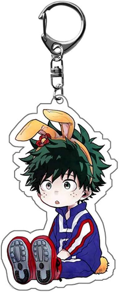 Elibeauty Lunanana My Hero Academia Porte-cl/és Izuku Bakugou Anime Pendentif d/écoratif Style 03