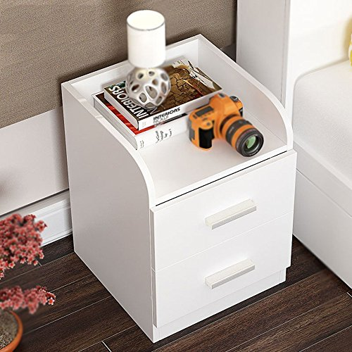 Tables MEIDUO Chevet Nightstand Cabinet Wenge Meubles de Chambre Chest Tiroir Rangement Étagère Bureau d'ordinateur (Couleur : Blanc)