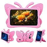 Tading Funda para Galaxy Tab A 7.0 para niños, no tóxica, de Espuma EVA Ligera y Resistente a los Golpes, con función Atril para tabletas Samsung de 7 Pulgadas Tab A SM- T280 T285, Rosado