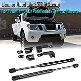 2Pcs Front Bonnet Hood Shock Accessories Lift Struts Bar Support Arm Gas Spring Fit For Nissan Frontier/Navara D40/Pathfinder/Xterra 2004-2018