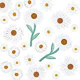 PandaHall 42 pegatinas para planchar con diseño de margaritas y flores, para decoración de bricolaje, camisetas, mochilas, sudaderas, zapatos, bolsas
