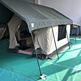 Waterproof Canvas Safari Glamping Camping Wall Bell Tent W/Chimney Vent/Awning (16x13x8ft.)