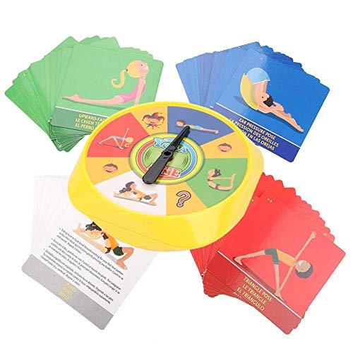 Juego de mesa de yoga 54 Pose de yoga Tarjetas de juego para padres e hijos Flexibilidad interactiva Ejercicio Juguete de escritorio Regalos para niños