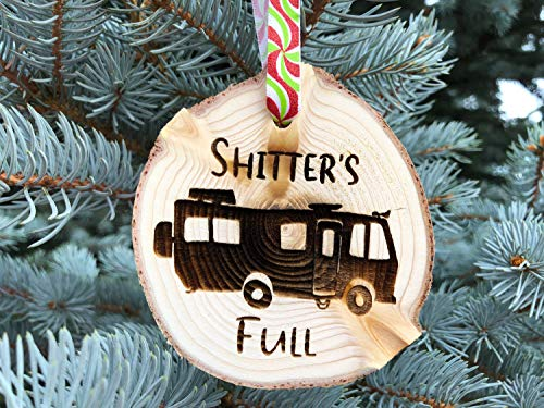 GFFVVVDDDRR Wooden Christmas Ornament Shitters Full Christmas Ornament Aspen Rustic Ornament Hand Finished Cousin Eddie National Lampoon Vacation