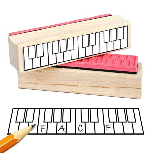 Twee octaven piano/piano handgrepen rubberen stempel - bespaart zoveel tijd.