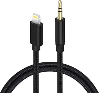Car Aux Cable, Twinkk Aux Cord Compatible with iPhone X/7/8/Xs/Xr/iPad Nylon Braided 3.3ft for Car, Speaker, Home Stereo and Headphone (Black)