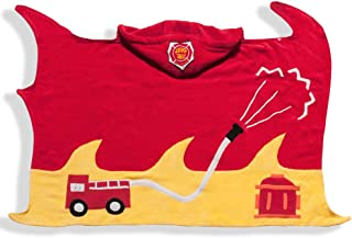 Kidorable Boys 2-7 Fireman Towel, Red, Small