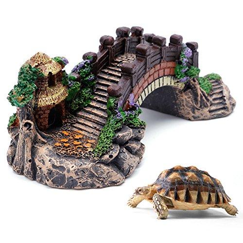 Haven winkel Vis Tank Brug Grot Decor, Mountain View Aquarium Boom Vis Tank Ornament Decoratie