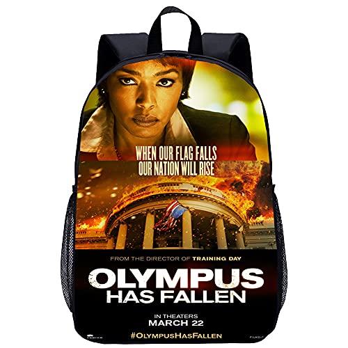 Erwachsener Kinderrucksack Olympus Has Fallen 3D-gedruckter Rucksack Ultraleichte Freizeit-Schultaschen für Herren und Damen, die für Schule, Reisen und Outdoor-Aktivitäten verwendet werden17 Zoll
