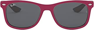Ray-Ban Junior RJ9052S New Wayfarer Kids Sunglasses, Red/Grey, 47 mm