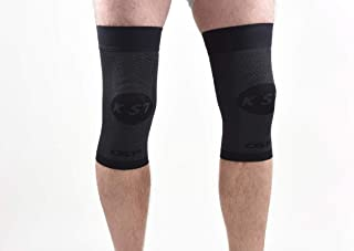OS1st KS7 Knee Compression Brace (Two Sleeves) stabilizes The Patella, Injury Recovery and relieves Knee Pain from Runners Knee, Jumpers Knee, Arthritis Pain & patellar tendonitis
