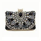 Y-hm Moda Mano de la Cena de Las Nuevas señoras de la Moda con la Bolsa de Diamante de Cristal de Lujo Diseño Ligero (Color : Black, Size : 20 * 8 * 12)