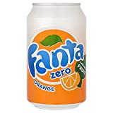 Fanta Naranja Zero 330ml (paquete de 24 x 330 ml)